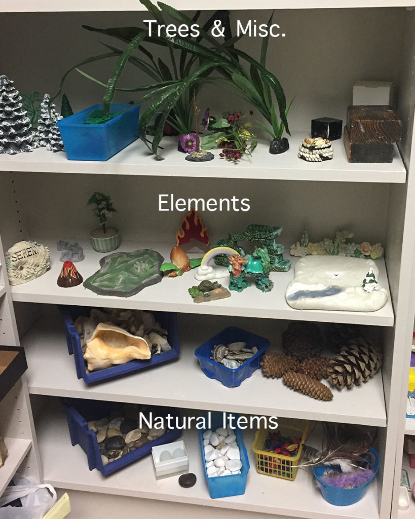 natural items for sandtray therapy