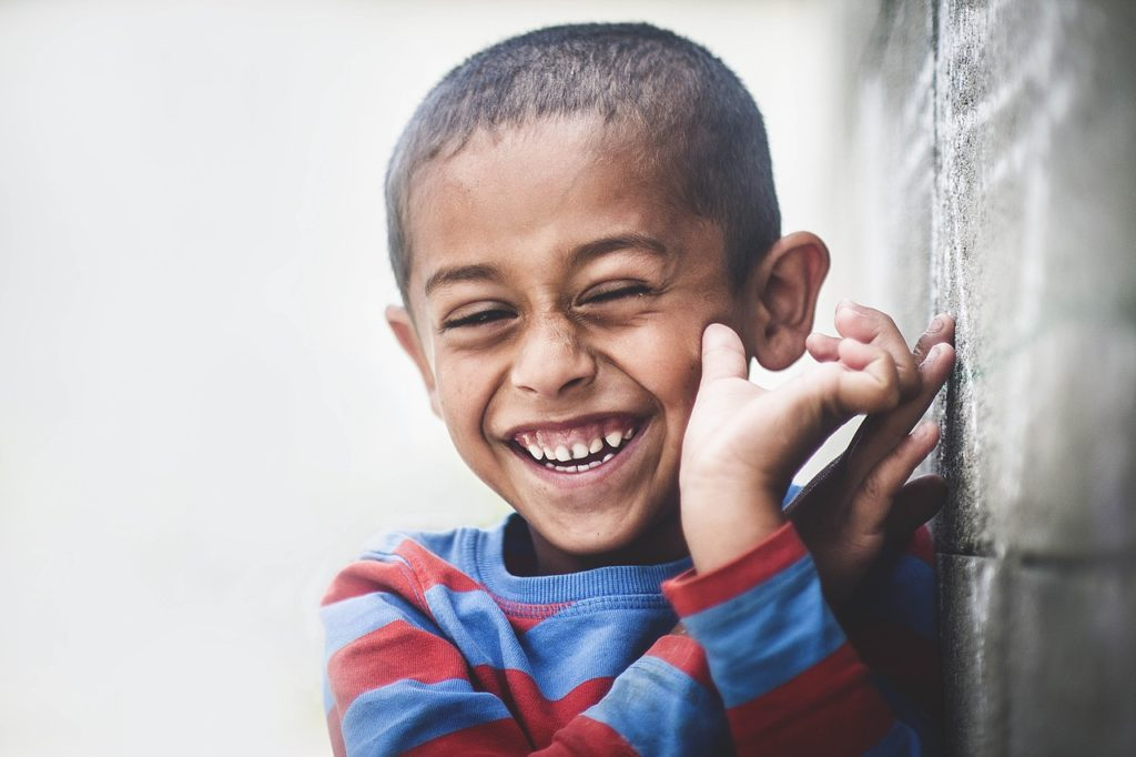 child laughing