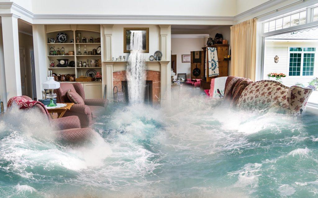 flooded room