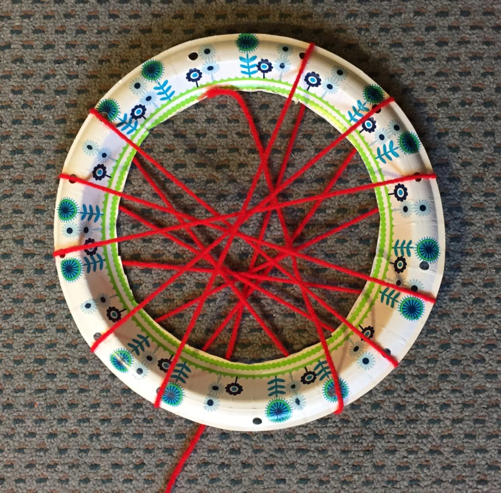 plate with string